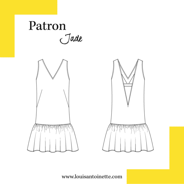 patron de couture robe Jade Louis Antoinette
