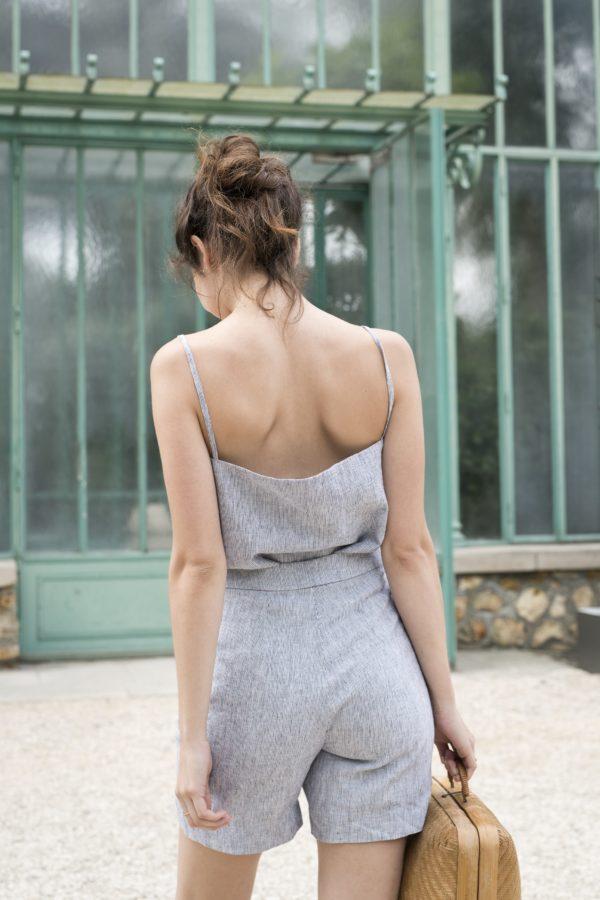 patron couture short joli carmin