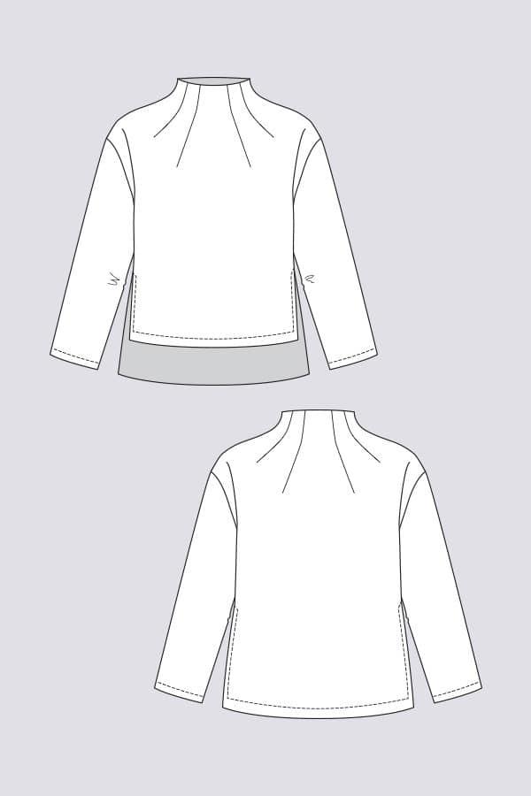 sewing pattern talvikki Named