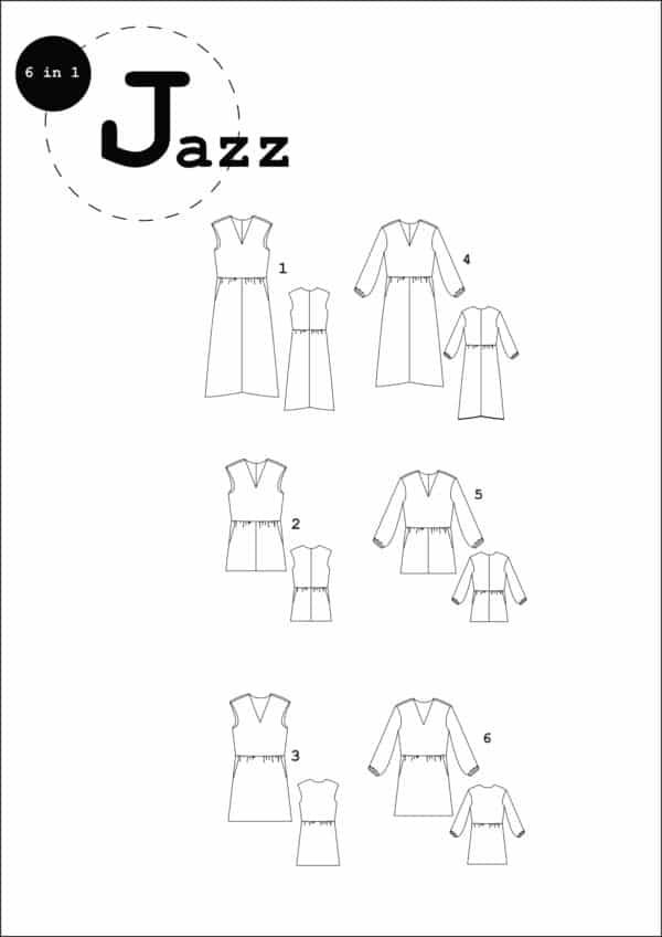 patron couture sewing pattern jazz ready to sew