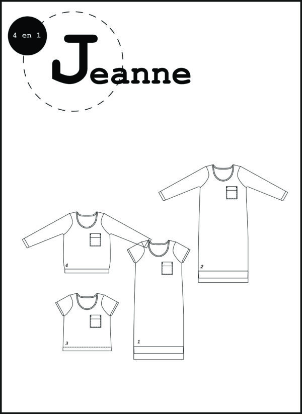 patron couture sewing pattern jeanne ready to sew