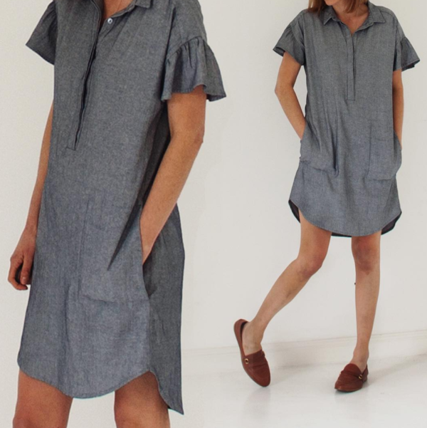 sewing pattern dress morningside French Navy
