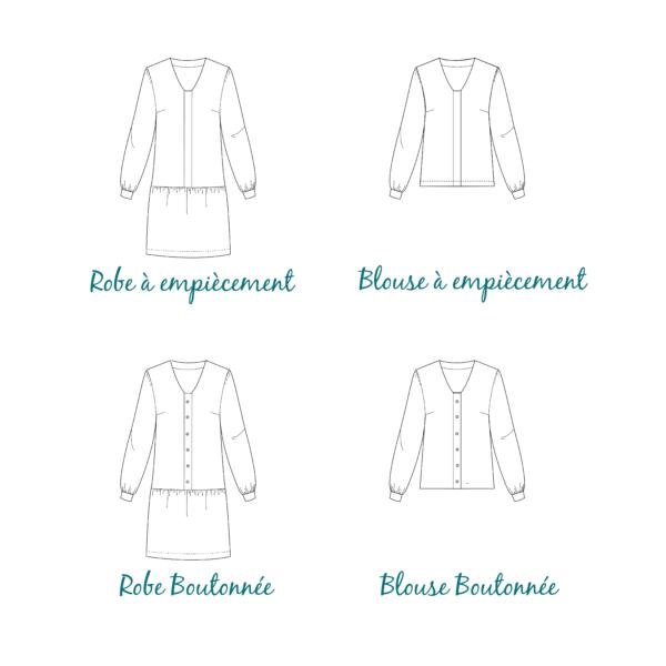 patron couture top robe magritte les patronnes