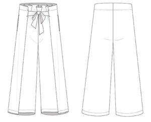3002 dessin jupe culotte