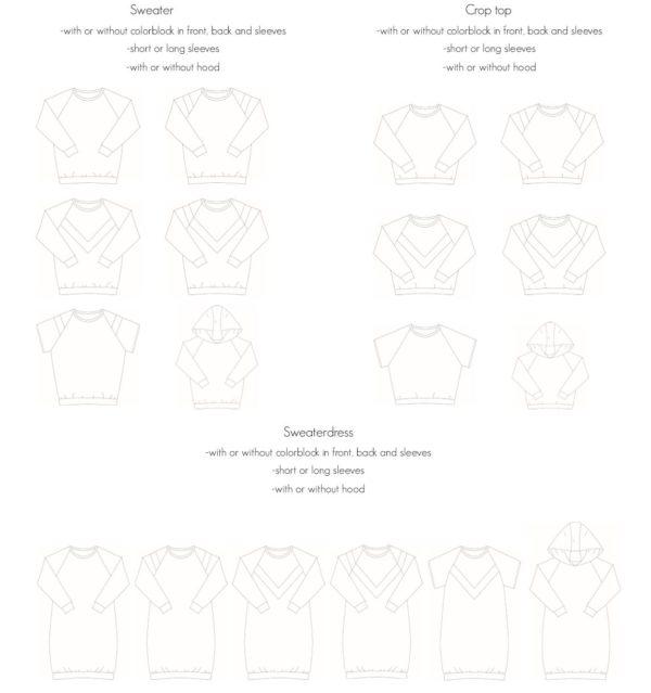 sewing pattern sweat Isa Bel'Etoile
