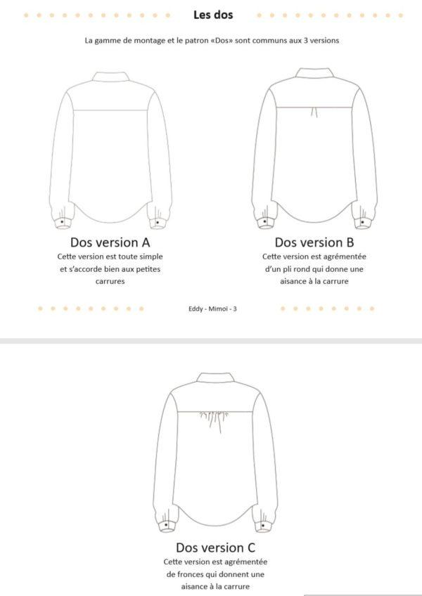 patron couture chemise Eddy Mimoi