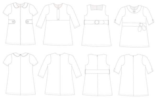 Sewing pattern Twiggy dress sewpony