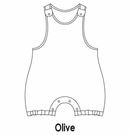 patron couture barboteuse olive petit patron