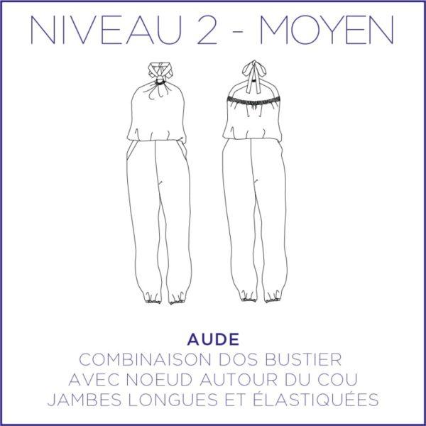 Patron couture combinaison Aude Coralie Bijasson