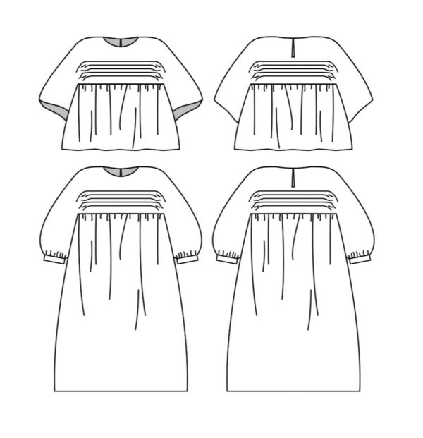 patron de couture robe & blouse Nekkar Plumti.Lab