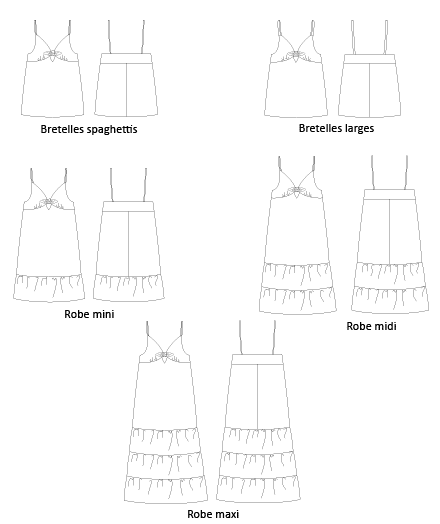 Patron couture top et robe Elegy Mimoi
