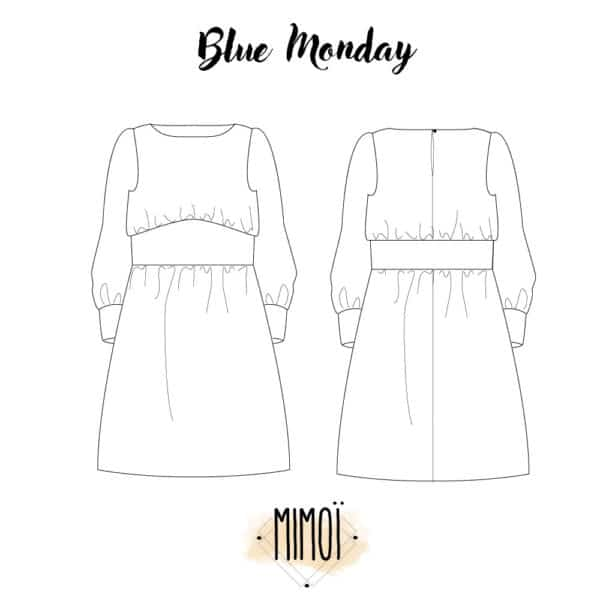 Patron couture robe Blue Monday Mimoï