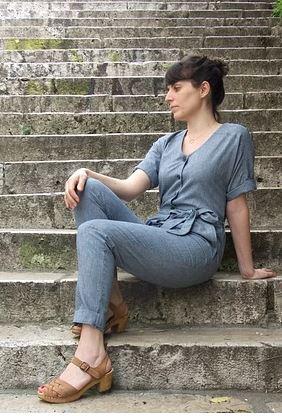Patron de couture combinaison Ischia Slow Sunday Paris